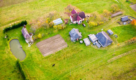Houses in countryside Stock Image