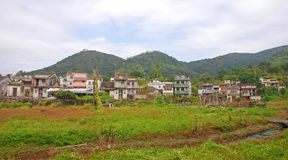 Houses at Countryside. In New Territory Hong Kong royalty free stock image