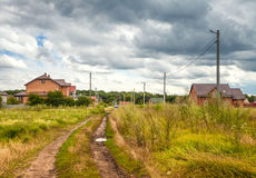 Houses in the countryside Royalty Free Stock Photo