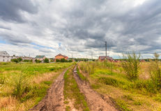 Houses in the countryside Stock Image