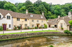 Waterway through Castle Combe Village in Wiltshire, England Stock Photography