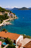 Houses on Croatian seashore Stock Photography