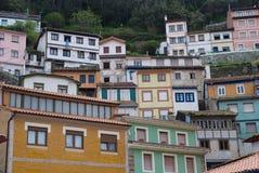 Houses in Cudillero, Asturias, Spain Stock Photo