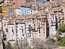 Houses of cuenca, Spain. View aerea popular houses of cuenca, Spain Royalty Free Stock Photos