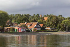 Houses at the Curonian Lagoon Stock Images