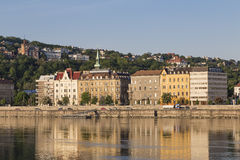Houses on the Danube embankment in Buda Royalty Free Stock Images