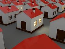 Houses in the dark Stock Photo