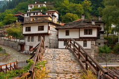 houses den gammala byn royaltyfria bilder