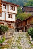 houses den gammala byn arkivfoto