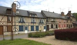 houses den gammala byn Arkivbilder