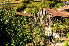 houses den gammala byn Arkivbild