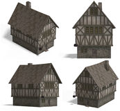 houses den medeltida gästgivargården Royaltyfri Fotografi
