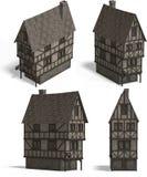 houses den medeltida krogen Royaltyfri Fotografi