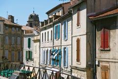houses den medeltida södra townen Arkivbild