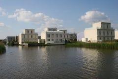 houses den moderna byn Royaltyfri Foto