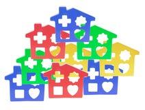houses den plastic toyen Royaltyfri Foto