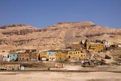 Houses in the desert Stock Photo