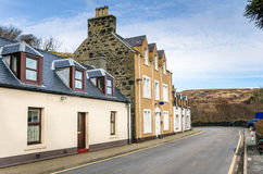 Houses on a Deserted Street Royalty Free Stock Photos
