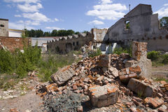 Houses Destroyed Royalty Free Stock Photo