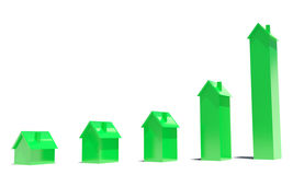 Houses Diagram Royalty Free Stock Image