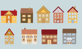 Houses with different architecture. Various houses with different architectural styles Royalty Free Stock Photography