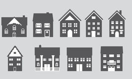Houses with different architecture Stock Images