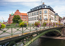 Houses in the district of La Petite France in Strasbourg Royalty Free Stock Image