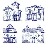 Houses doodles Royalty Free Stock Image