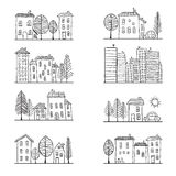 Houses doodles Royalty Free Stock Images