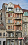 Old house in downtown. Houses in downtown,closeup look,old houses with balcony in Belgrade Royalty Free Stock Photography