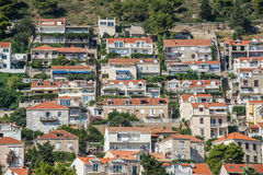 Houses in Dubrovnik. Apartment houses in Dubrovnik in Croatia Royalty Free Stock Photography