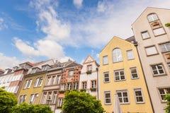Houses in Dusseldorf. Altstadt,the Old Town City Center Stock Image