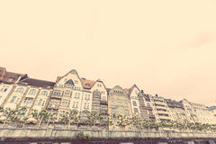 Houses in Dusseldorf Stock Photography