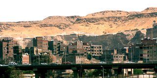 Houses in egypt. Show the poverty Royalty Free Stock Photography