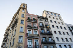 Houses in El Borne, Barcelona, Spain Royalty Free Stock Photography
