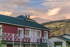 Houses at El Chalten Town. Patagonia - Argentina Royalty Free Stock Images