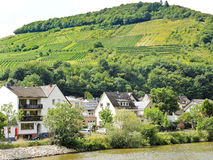 Houses in Ellenz Poltersdorf village on Moselle Royalty Free Stock Photo