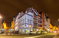 Houses on the embankment in Strasbourg - France Stock Image