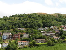 Houses On An English Hillside Stock Photos