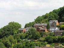 Houses On An English Hillside Royalty Free Stock Photo