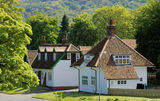 Houses in English village Stock Photos