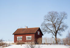 Houses and environment in Sweden Royalty Free Stock Images