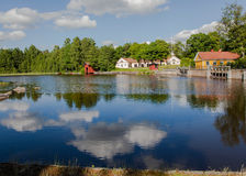 Houses and environment in Sweden. Stock Photography