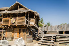 Houses in Ethno Village Stock Photography