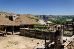 Houses in Ethno Village Stock Image