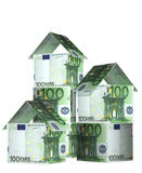 Houses from euro banknotes Stock Photo