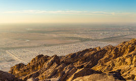 Houses for Expo 2020 near Al Ain as seen from Jabel Hafeet mount. Ain - UAE Royalty Free Stock Image