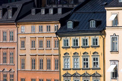 Houses facades in Stockholm Royalty Free Stock Photos