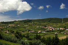 Houses on Faial island Stock Images