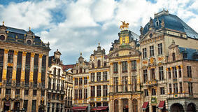 Houses of the famous Grand Place Stock Photography